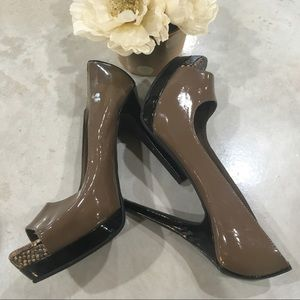 Jessica Simpson Heels Patent Leather Snakeskin